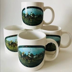 Ralph Lauren Polo Coffee Mugs (4)